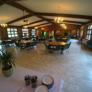 Dining Hall Fireplace & Sitting Area